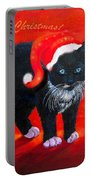 Meow Christmas Kitty Portable Battery Charger