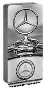 Mercedes Benz Hood Ornament 2 Portable Battery Charger by Jill Reger