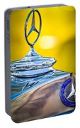Mercedes-benz Hood Ornament - Emblem -0961c Portable Battery Charger
