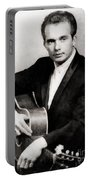 Merle Haggard, Music Legend By John Springfield Portable Battery Charger