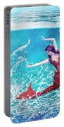 Mermaid Red Portable Battery Charger