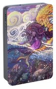 Mermaids In The Surf Portable Battery Charger