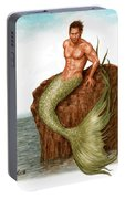 Merman On The Rocks Portable Battery Charger