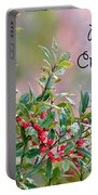 Merry Christmas - Berries Portable Battery Charger