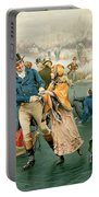 Merry Christmas Portable Battery Charger by Frank Dadd