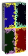 Merry Christmas Pop Art Portable Battery Charger