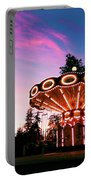 Merry - Go - Round At Sunset Portable Battery Charger
