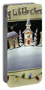 Merry Little Christmas Hill Portable Battery Charger