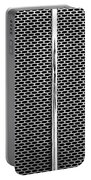 Metal Texture No.18 Bw Portable Battery Charger