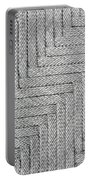 Metallic Grey Rope Weaved Pattern Portable Battery Charger