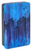 Metropolis In Blue Portable Battery Charger