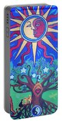 Mexican Retablos Prayer Board Portable Battery Charger by Genevieve Esson