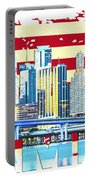 Miami Florida City Skyline Portable Battery Charger