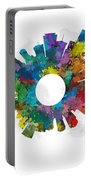 Miami Small World Cityscape Skyline Abstract Portable Battery Charger