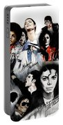 Michael Jackson - King Of Pop Portable Battery Charger by Lin Petershagen