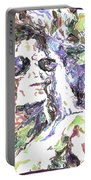 Michael Jackson Watercolor Portable Battery Charger