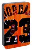 Michael Jordan Wood Art 1c Portable Battery Charger