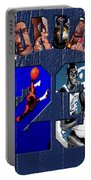 Michael Jordan Wood Art 2c Portable Battery Charger