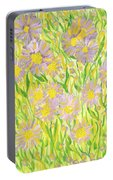 Michaelmas Daises Portable Battery Charger