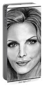 Michelle Pfeiffer In 2010 Portable Battery Charger by J McCombie