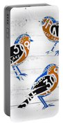 Michigan Robins State Bird Recycled Vintage License Plate Art On White Barn Wood Portable Battery Charger