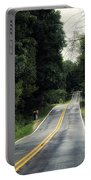 Michigan Rural Roadway In September Portable Battery Charger