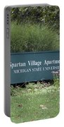 Michigan State University Spartan Village Signage Portable Battery Charger