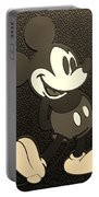 Mickey Mat Sepia Portable Battery Charger