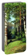 Midday Warmth In A Forest Impressionism Portable Battery Charger