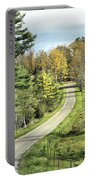 Middle Road In Autumn Portable Battery Charger