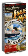 Midland Railway, Steam Boat, Isle Of Man, Poster Portable Battery Charger