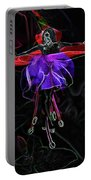 Midnight Bloom Portable Battery Charger