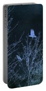 Midnight Flight Silhouette Blue Portable Battery Charger