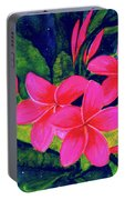 Midnight Plumeria Flower #61 Portable Battery Charger