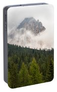 Mighty Dolomite Peaking Through The Clouds Portable Battery Charger