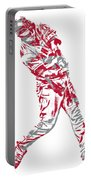 Mike Trout Los Angeles Angels Pixel Art 20 Portable Battery Charger