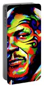 Mike Tyson Abstract Portable Battery Charger