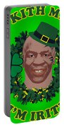 Mike Tyson Funny St. Patrick's Day Design Kith Me I'm Irith Portable Battery Charger