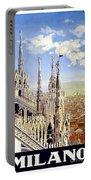 Milan Travel Print Portable Battery Charger