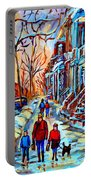 Mile End Montreal Neighborhoods Portable Battery Charger