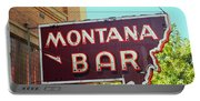Miles City, Montana - Bar Neon Portable Battery Charger