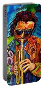 Miles Davis Hot Jazz Portraits By Carole Spandau Portable Battery Charger