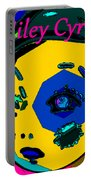 Miley Cyrus At Five With An Attitude Print Portable Battery Charger