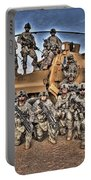 Military Police Pose For This Hdr Image Portable Battery Charger