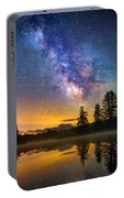 Milky Way Over Coffin Pond  Portable Battery Charger
