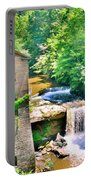 Mill Creek Park Lanterman's Mill And Covered Bridge Portable Battery Charger