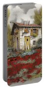 Mille Papaveri Portable Battery Charger by Guido Borelli