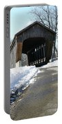 Millrace Park Old Covered Bridge - Columbus Indiana Portable Battery Charger