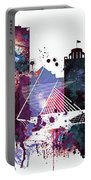 Milwaukee Watercolor Skyline Portable Battery Charger