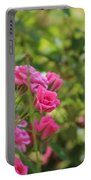 Miniature Fuchsia Roses Portable Battery Charger